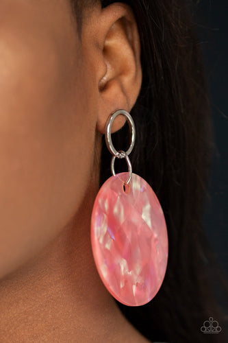 Beach Bliss - Orange Paparazzi Earring - Pink Dragon Jewels