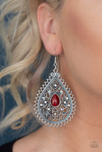 Load image into Gallery viewer, Eden Glow - Red Paparazzi Earring - Pink Dragon Jewels