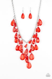 Irresistible Iridescence - Red Paparazzi Necklace - Pink Dragon Jewels