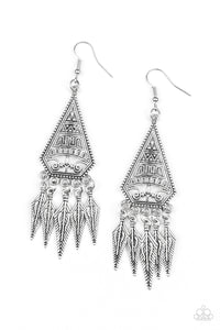 Me Oh MAYAN - Silver Paparazzi Earring