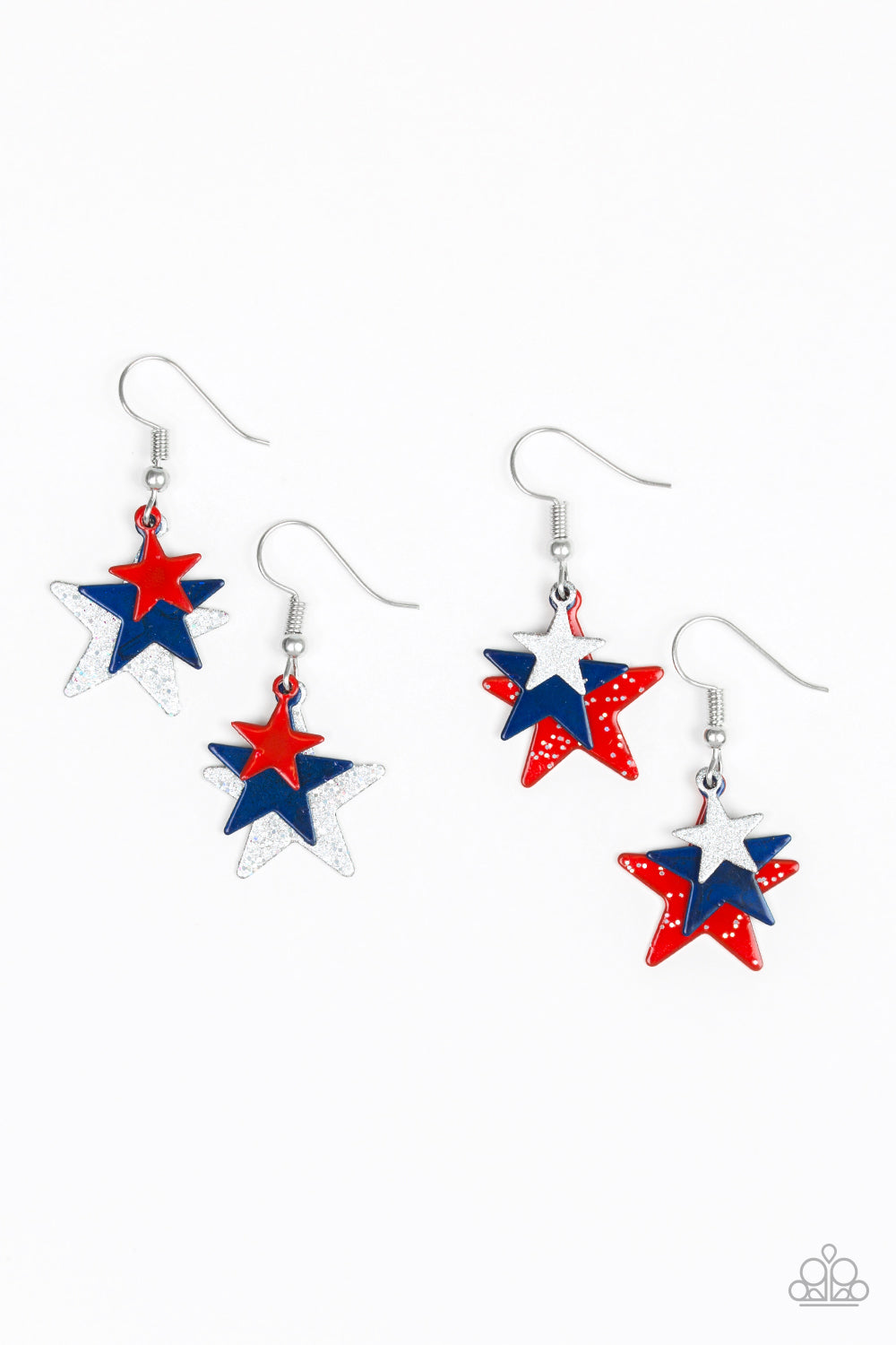 Shooting Star Earrings - Paparazzi Starlet Shimmer - Pink Dragon Jewels