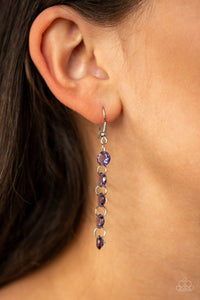 Trickle-Down Effect - Purple Paparazzi Earring - Pink Dragon Jewels