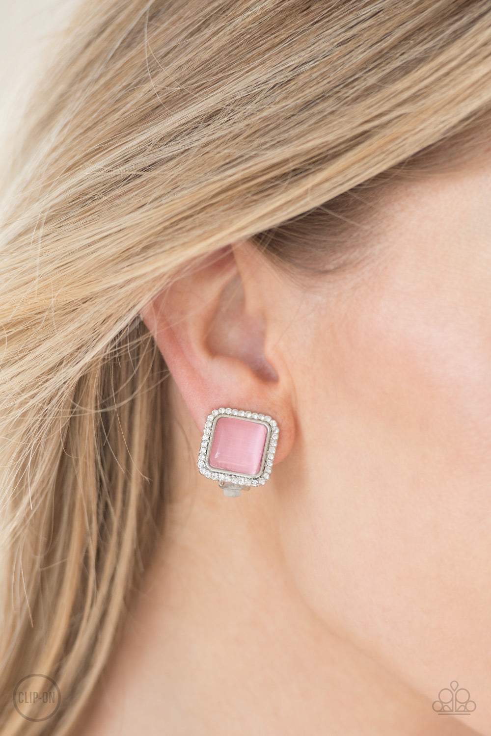 Cinderella Chic - Pink Clip-On - Pink Dragon Jewels