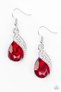 Easy Elegance - Red Paparazzi Earring - Pink Dragon Jewels