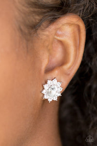 Starry Nights - White Paparazzi Earring - Pink Dragon Jewels