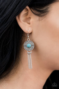 Desert Voyage - Blue Paparazzi Earring - Pink Dragon Jewels