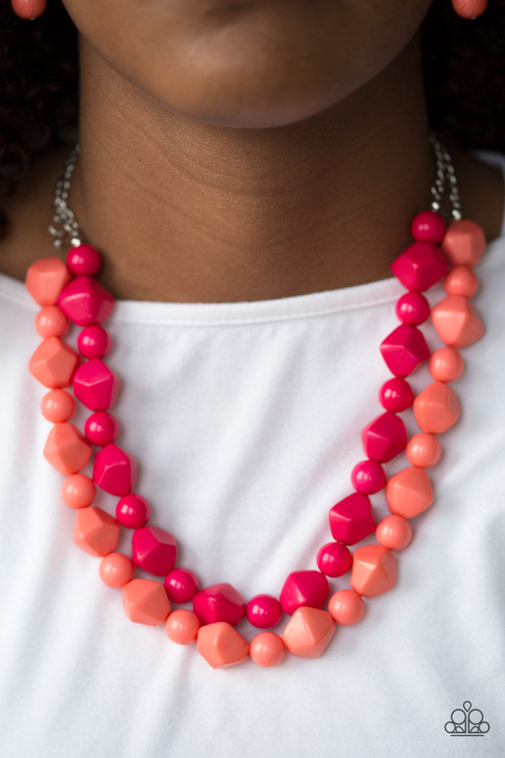 Rio Rhythm - Multi Paparazzi Necklace - Pink Dragon Jewels