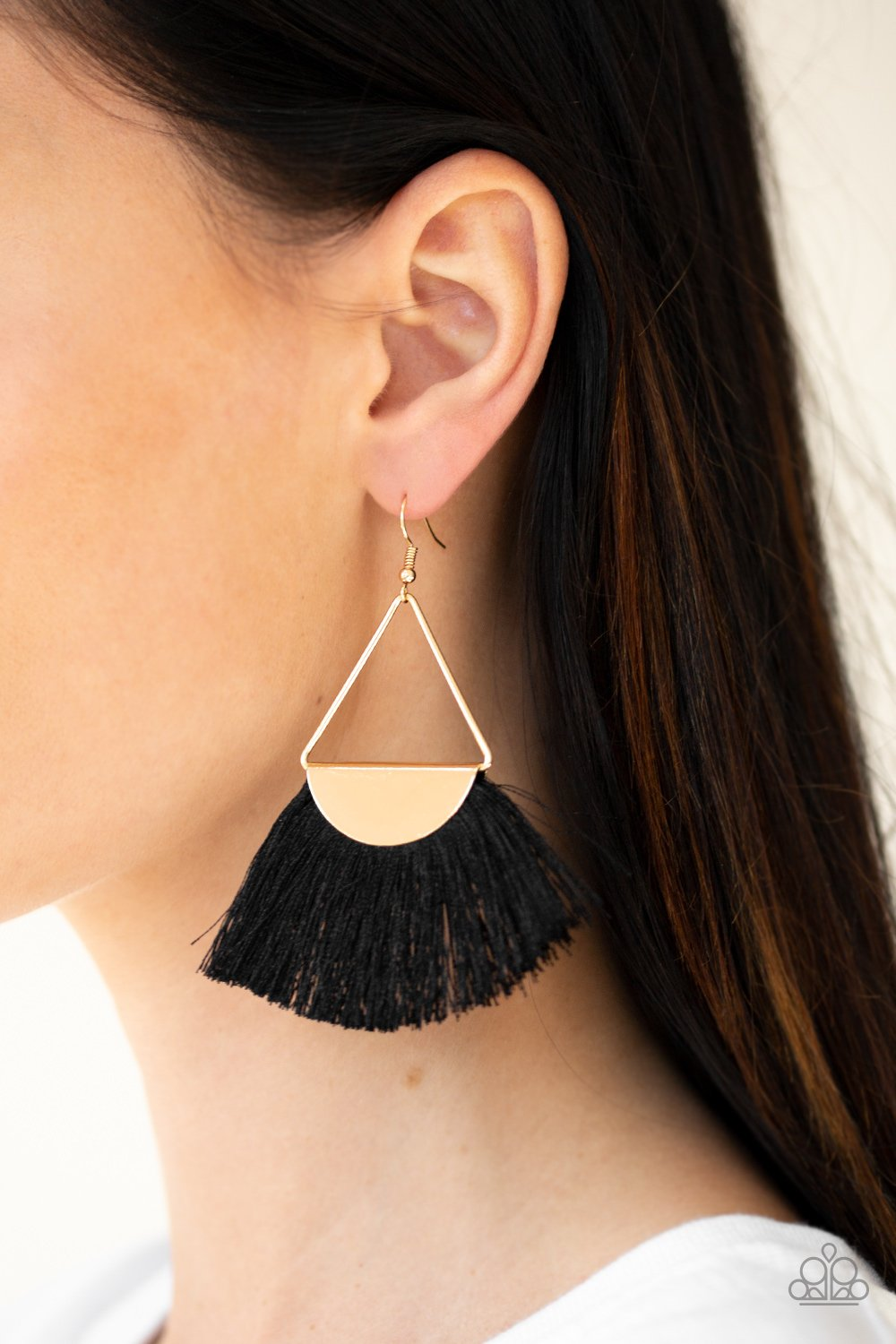 Modern Mayan - Black Paparazzi Earring - Pink Dragon Jewels