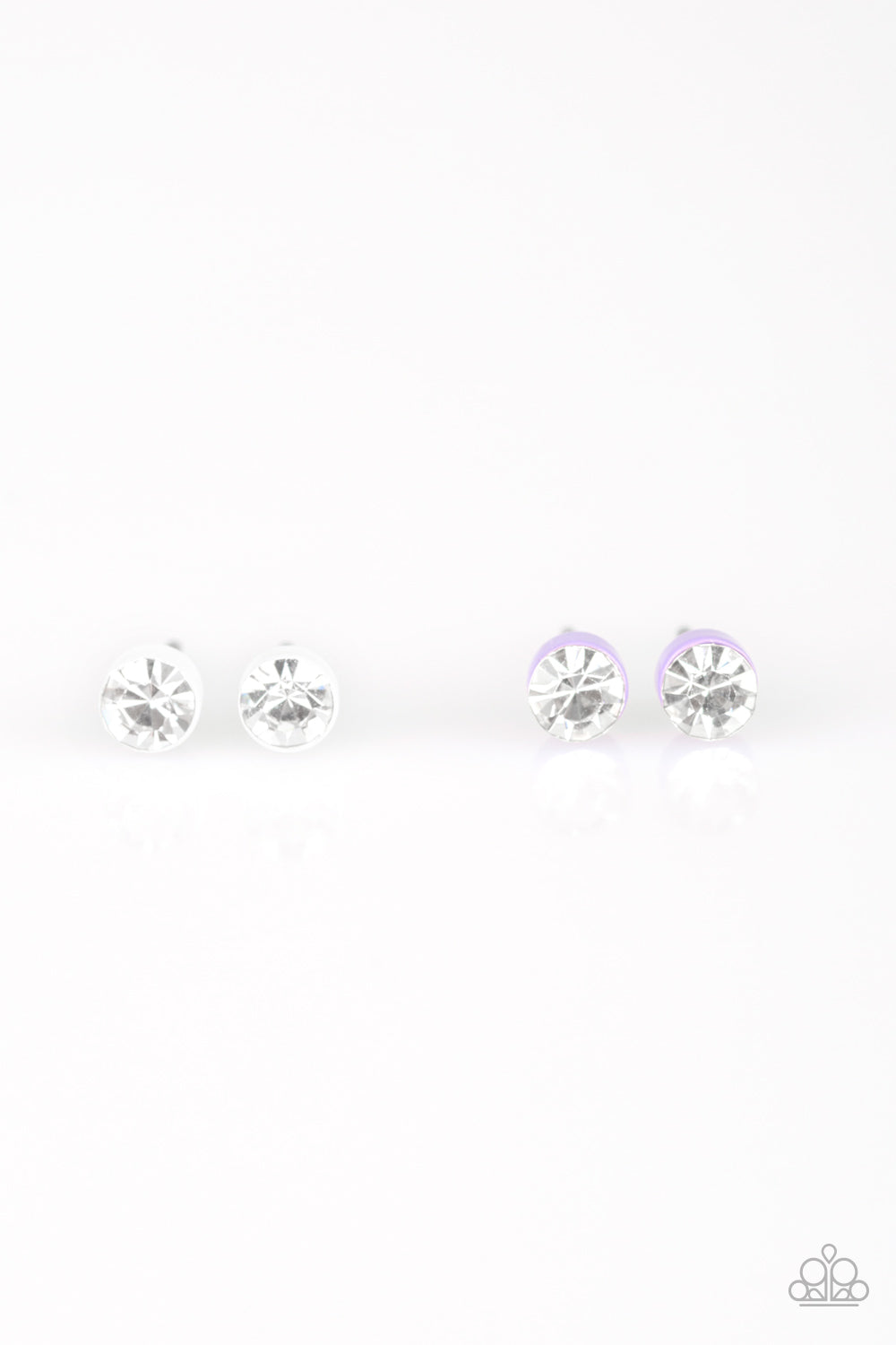 Mini Rhinestone Studs - Paparazzi Starlet Shimmer - Pink Dragon Jewels