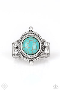Prone To Wander - Blue Paparazzi Ring - Pink Dragon Jewels