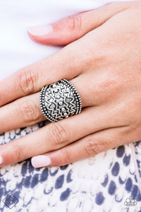 Island Rover - Silver Paparazzi Ring - Pink Dragon Jewels