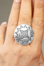 Load image into Gallery viewer, Rural Radius - Silver Paparazzi Ring - Pink Dragon Jewels