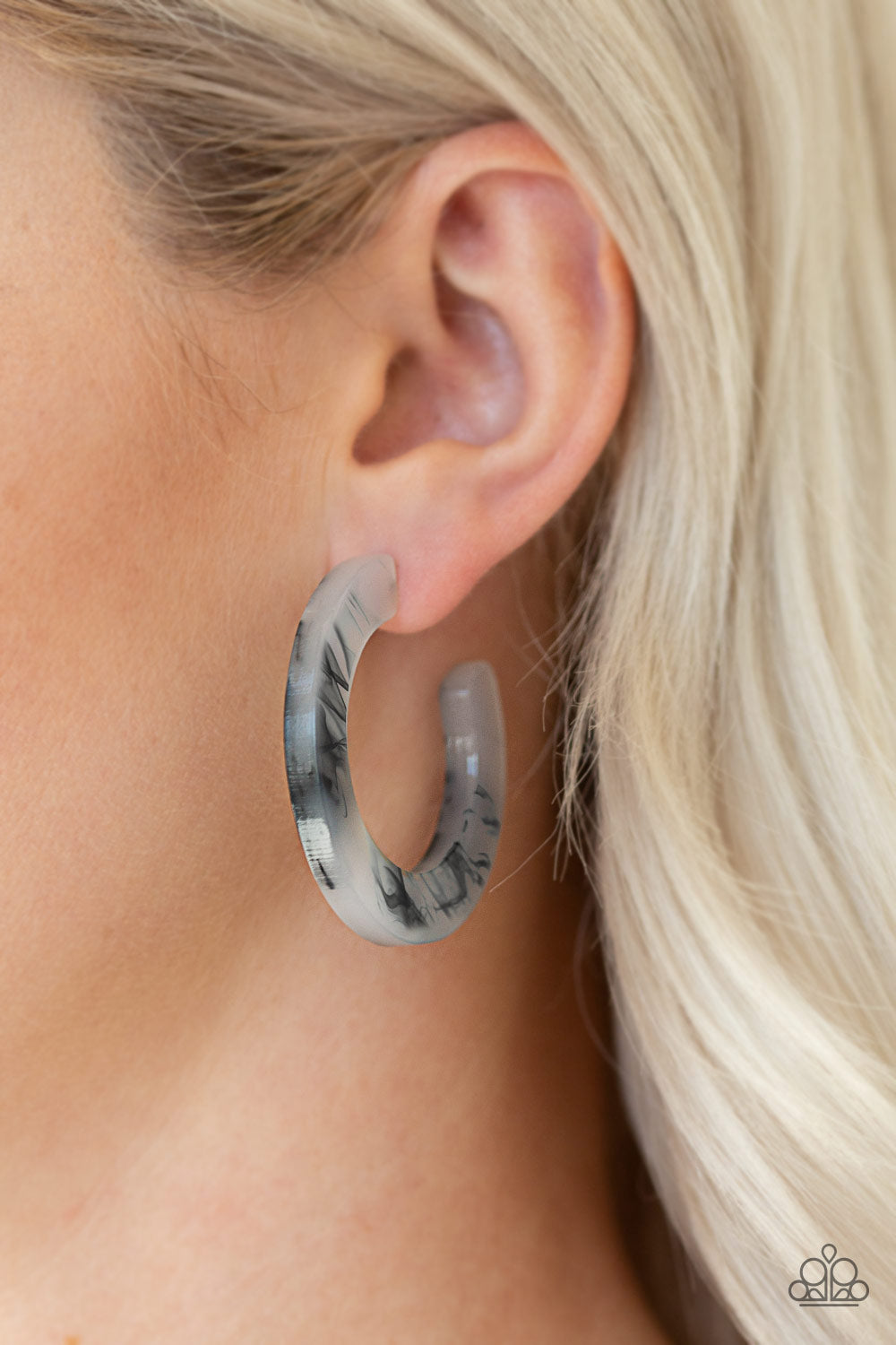 Oceanside Oasis - Black Paparazzi Earring - Pink Dragon Jewels