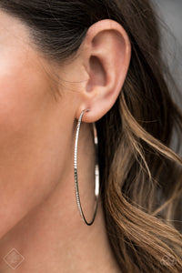 Sleek Fleek - Silver Paparazzi Earring - Pink Dragon Jewels