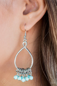 Broadway Babe - Blue Paparazzi Earring - Pink Dragon Jewels