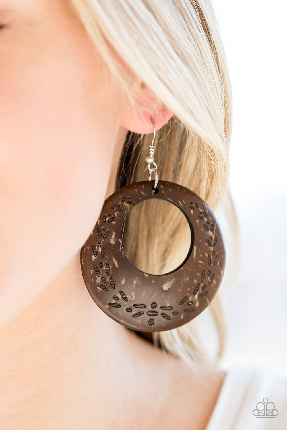 Beach Club Clubbin - Brown Paparazzi Earring - Pink Dragon Jewels