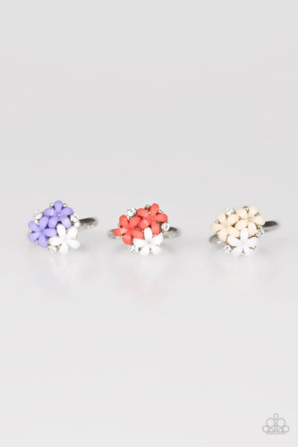 Triple Flower Ring - Paparazzi Starlet Shimmer - Pink Dragon Jewels