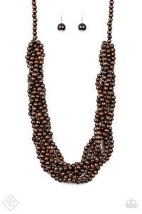 Tahiti Tropic - Brown Paparazzi Necklace - Pink Dragon Jewels
