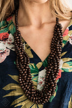 Load image into Gallery viewer, Tahiti Tropic - Brown Paparazzi Necklace - Pink Dragon Jewels