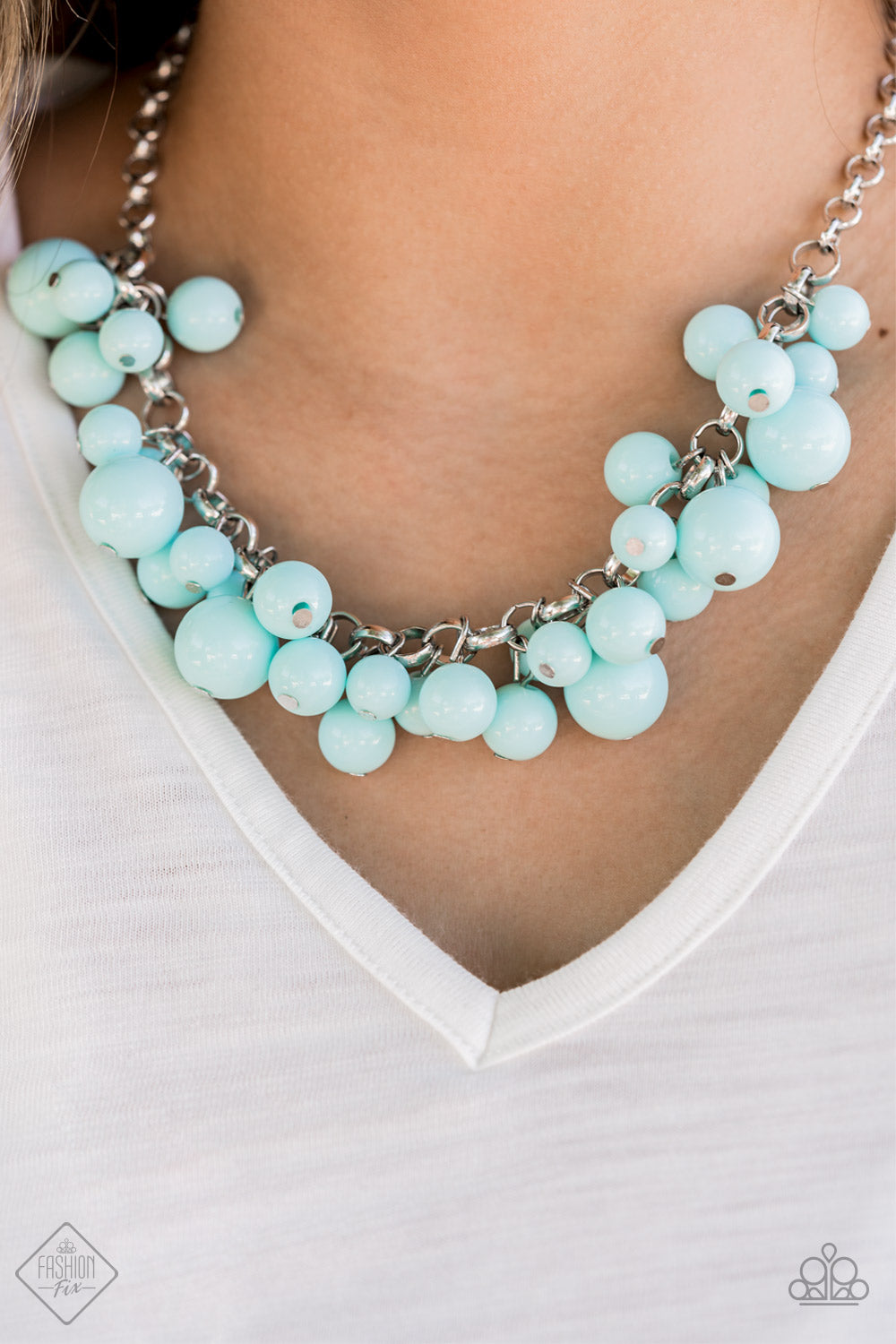 Walk This BROADWAY - Blue Paparazzi Necklace - Pink Dragon Jewels