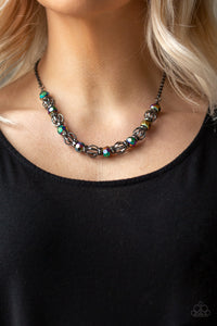Metro Majestic - Multi Paparazzi Necklace - Pink Dragon Jewels