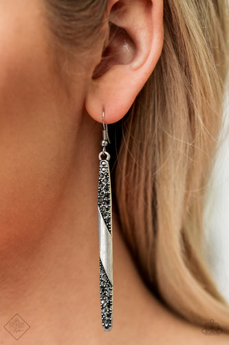 Award Show Attitude - Silver Paparazzi Earring - Pink Dragon Jewels