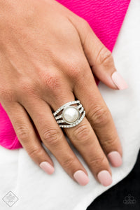 A Big Break - White Paparazzi Ring - Pink Dragon Jewels