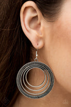 Load image into Gallery viewer, Totally Textured - Silver Paparazzi Earring - Pink Dragon Jewels