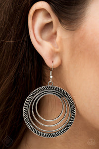 Totally Textured - Silver Paparazzi Earring - Pink Dragon Jewels
