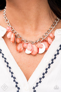 Treasure Shore - Paparazzi Necklace - Pink Dragon Jewels