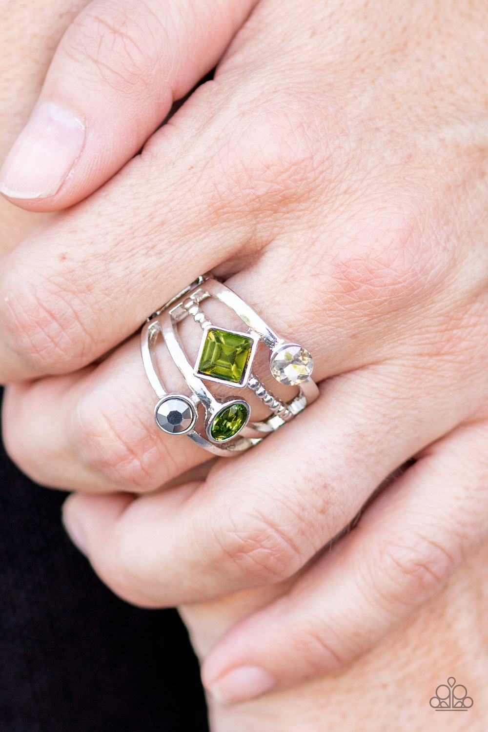 Urban Meditation - Green Paparazzi Ring - Pink Dragon Jewels