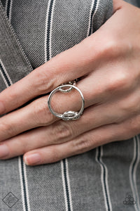 Circle Round Me - Silver Paparazzi Ring - Pink Dragon Jewels