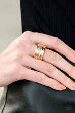 Load image into Gallery viewer, Rise and Shine - Gold Paparazzi Ring - Pink Dragon Jewels