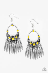 Cry Me A RIVERA - Yellow Paparazzi Earring - Pink Dragon Jewels