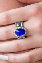 Load image into Gallery viewer, Laguna Luxury - Blue Paparazzi Ring - Pink Dragon Jewels