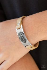 Take The LEAF - Brown Paparazzi Bracelet - Pink Dragon Jewels