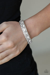 December 2019 Life of the Party: Blinged Out - White Paparazzi Bracelet - Pink Dragon Jewels