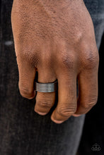 Load image into Gallery viewer, A Mans Man - Black Paparazzi Ring - Pink Dragon Jewels