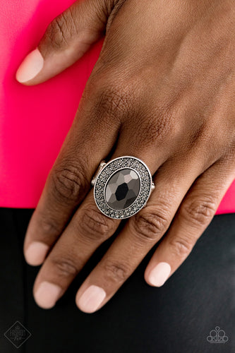 Castle Lockdown - Silver Paparazzi Ring - Pink Dragon Jewels