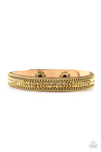 Load image into Gallery viewer, Babe Bling - Brass Paparazzi Bracelet