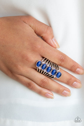BLING Your Heart Out - Blue Paparazzi Ring - Pink Dragon Jewels