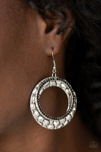 Cinematic Shimmer - Black Paparazzi Earring - Pink Dragon Jewels