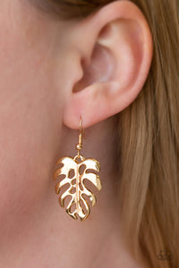 Desert Palms - Gold Paparazzi Earring - Pink Dragon Jewels