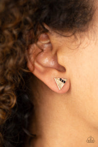 Pyramid Paradise - Black Paparazzi Earring - Pink Dragon Jewels
