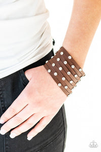 Sass Squad - Brown Paparazzi Bracelet - Pink Dragon Jewels