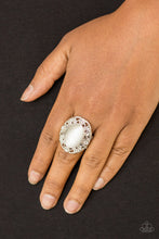Load image into Gallery viewer, Moonlit Marigold - White Paparazzi Ring - Pink Dragon Jewels