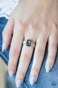 Regal Relic - Silver Paparazzi Ring - Pink Dragon Jewels
