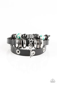 Time Works WANDERS - Black Paparazzi Bracelet - Pink Dragon Jewels