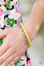 Load image into Gallery viewer, Dewy Dandelions - Yellow Paparazzi Bracelet - Pink Dragon Jewels