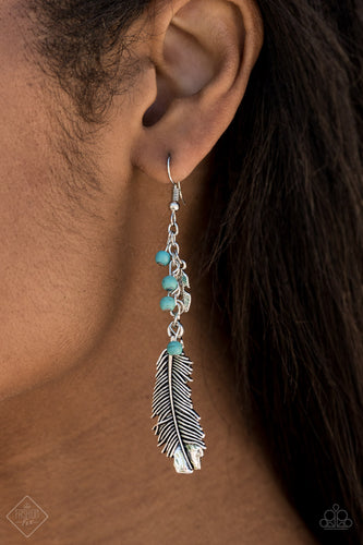 Find Your Flock - Blue Paparazzi Earring - Pink Dragon Jewels